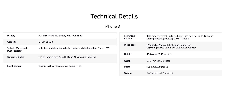4aec615e8 Apple iPhone 8 (64GB) - Gold  Amazon.in  Electronics
