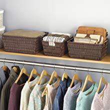 containers, bins, baskets, clothes storage, closet storage, plastic container, hamper, organisation