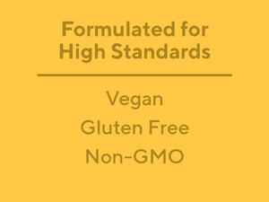 vegan, gluten free, non-GMO