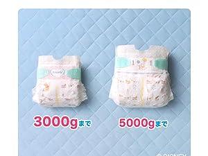 赤ちゃんの体重に合わせてサイズ選択