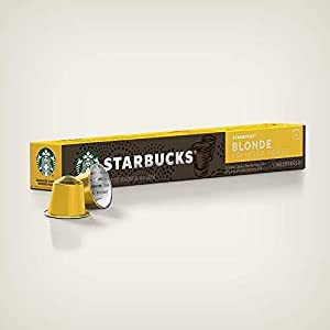 STARBUCKS Blonde Espresso Roast NESPRESSO Coffee Capsules
