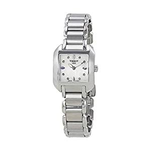 Tissot Womens Quartz Watch, Analog Display, and Stainless Steel Strap T02128574