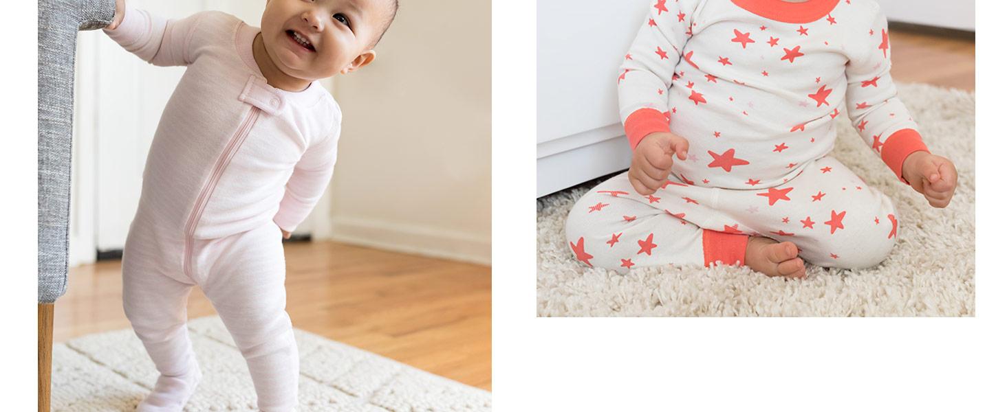Confezione da 2 pezzi in cotone biologico Moon and Back by Hanna Andersson Baby per dormire e giocare