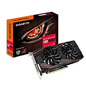 Gigabyte GV-RX580GAMING-8GD - Tarjeta Gráfica, RX 580 Gaming, 8 phases poder, 8GB, Negro