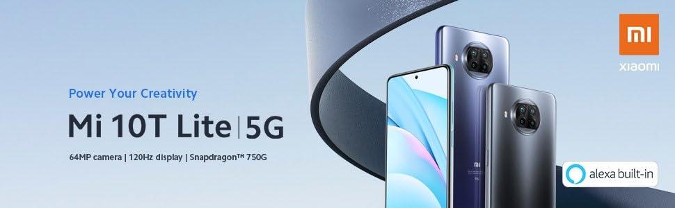 Xiaomi Mi 10T Lite 5G -  6+128GB, Cámara cuádruple de 64 MP