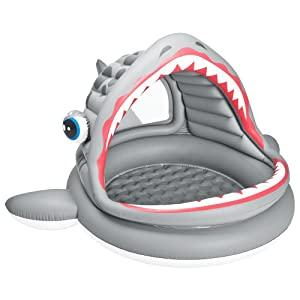 Intex 57120NP - Piscina hinchable tiburón 201 x 198 x 109 cm, 119 ...