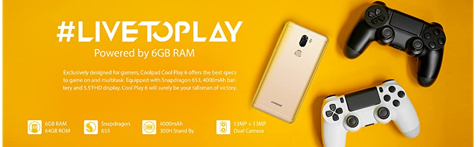 Coolpad Cool Play 6 (Gentle Gold, 6GB RAM+64GB Memory): Amazon in