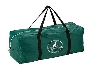 キャプテンスタッグ キャンプ用品 テント 4人用 CS 3ルームドームテント キャリーバッグ付 UV加工 UA-15