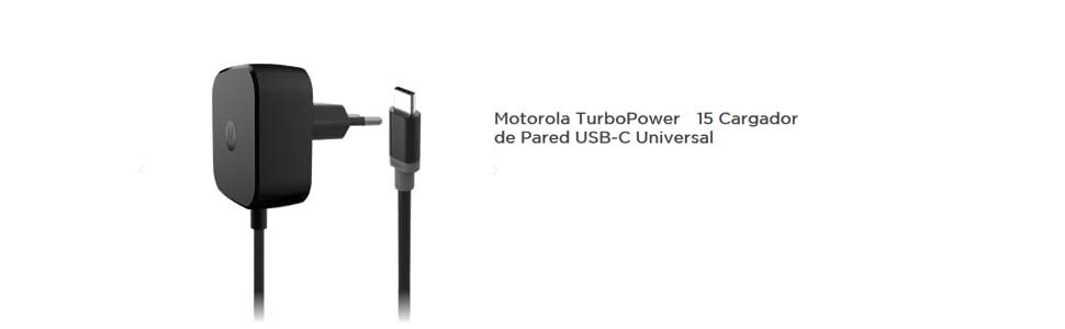 011b9d56972 Motorola TurboPower 15 Cargador universal USB-C de carga rápida ...