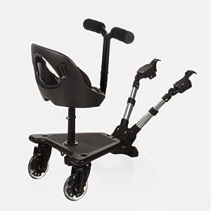 Be Cool - Asiento de patinete universal skate seat 503 para coche de paseo negro