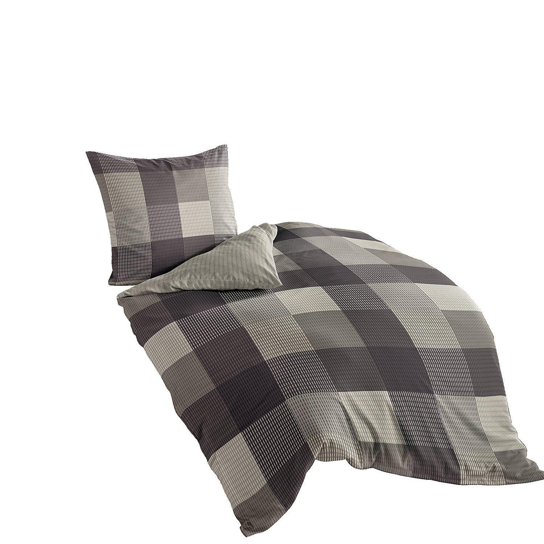 bierbaum 6323 02 mako satin bettw sche dessin 200 x 200 cm und 2 x 80 x 80 cm kitt 02 amazon. Black Bedroom Furniture Sets. Home Design Ideas