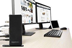 AmazonBasics - Base de conexión universal para ordenador portátil, USB 3.0