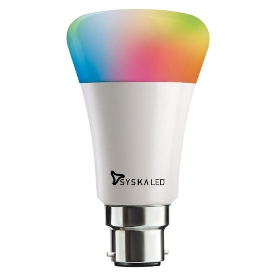buy syska smartlight 7w led bulb compatible with amazon alexa online at low prices in india. Black Bedroom Furniture Sets. Home Design Ideas