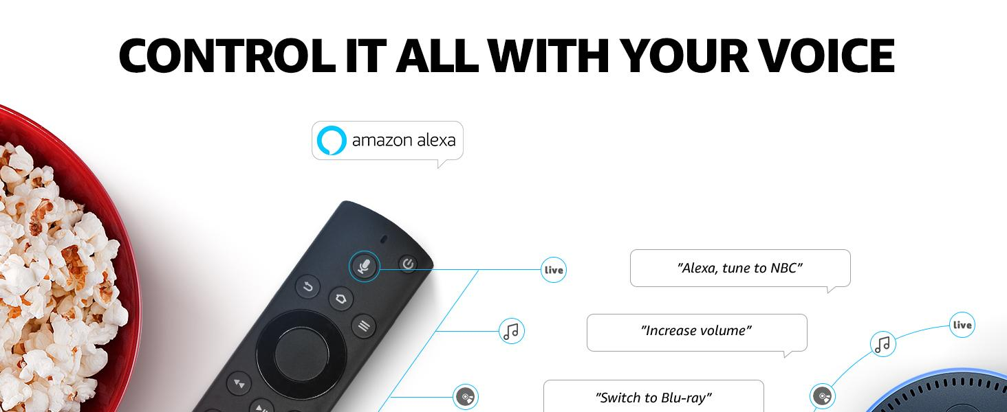Control it all with your voice and do more with Alexa.