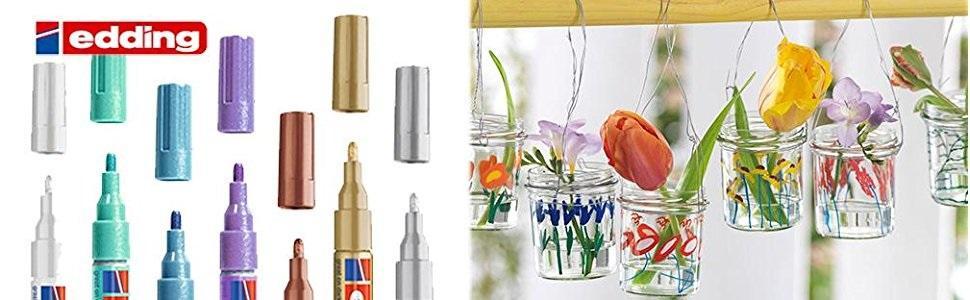 751, edding, marcador, rotulador, decorar, pintar, journal, pintar,