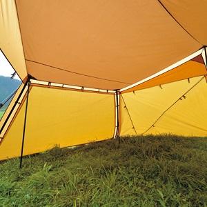 スノーピーク(snow peak) テント カヤード セット (アルミペグ、ロープ、スチールポール 付属) TP-400S