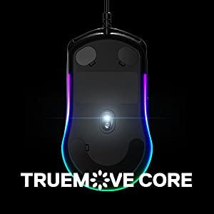 SteelSeries Rival 3 Gaming Mouse, CPI TrueMove Optical Sensor, Programmable Buttons, Split Trigger
