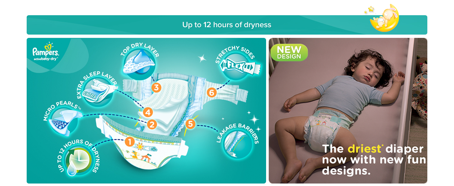 Pampers Active Baby Dry Diapers