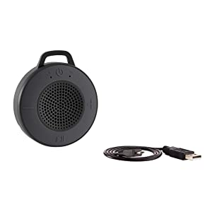 AmazonBasics - Altavoz inalámbrico para ducha, incluye ventosa y micrófono incorporado, 5 W, gris: Amazon.es: Electrónica