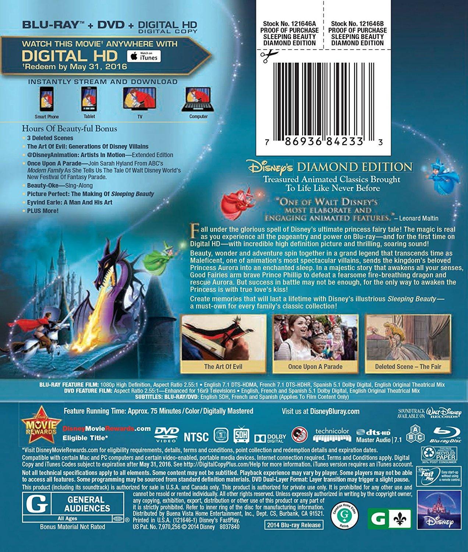 sleeping beauty diamond edition bluray dvd digital