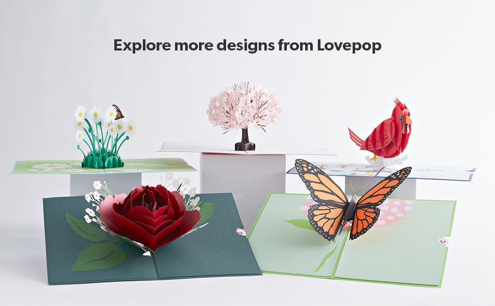 lovepop popup greeting card birthday christmas hallmark