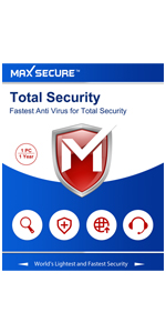 Max Secure Total Security Platinum For Windows 1 Pc 1 Year Extra 6 Months Subscription Free Email Delivery In 2 Hrs No Cd With Ransomware Protection Amazon In Software
