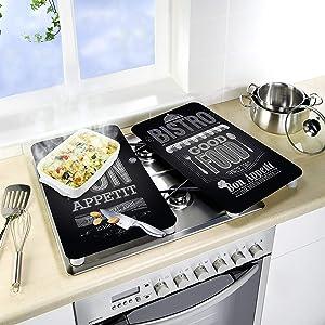 Wenko Juego de Cubiertas de Cocina Universal Lunch, Multicolor, 30x52x4.5 cm, 2 Unidades