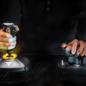thrustmaster, joystick, throttle, hotas, thrustmaster joystick, joystick pc, flight sim