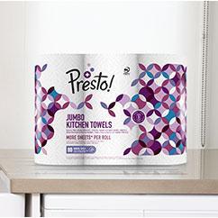 Amazon Marke Presto Jumbo Küchenrollen 18 Rollen 18 X 80 3 Lagige Blätter Amazon De Drogerie Körperpflege