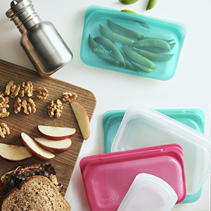 Silicone, Storage, Bag, Reusable, Gallon, Sandwich, Ziploc, Alternative, Freezer, Plastic, Snack