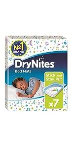 huggies;drynites;bedwetting;huggies drynites;drynights;bed mats