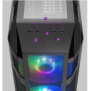 نتيجة بحث الصور عن CM-GC-MC-H500M-Case Cooler Master H500M Full Tower