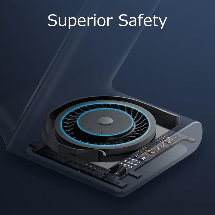 高い安全性
