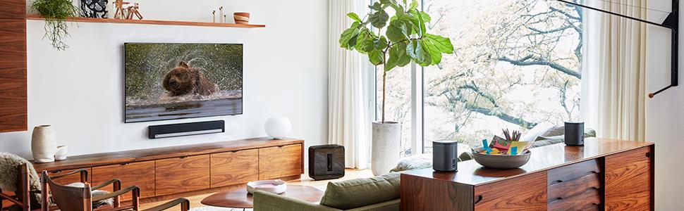 sonos 5 1 heim kinosystem 2x sonos play 1 1x playbar. Black Bedroom Furniture Sets. Home Design Ideas