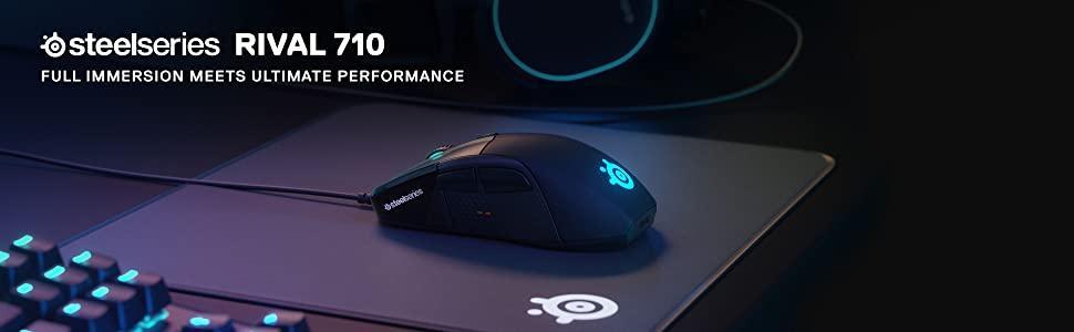 SteelSeries Rival 710, Gaming Mouse, Optical Sensor, OLED Display, RGB Lighting
