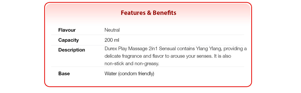 Durex Play Sensual Massage 2in1 Lube with Ylang Ylang