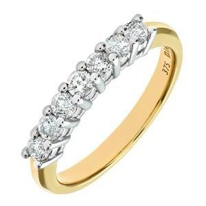 Diamant Bague Jaune9 Naava 1 Gr 6 0 Femme Or Carats1 Cts Rc3jL54AqS