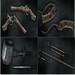 多彩なプレイスタイルを可能にする仕掛け武器と銃