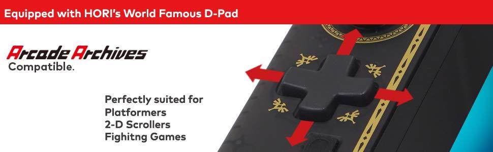 Equipped with HORI's World Famous D-Pad