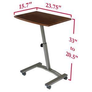sevilleclassics airlift height adjustable sit stand standing desk table height adjustable rising