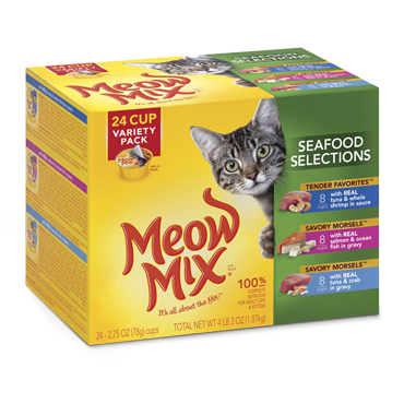 Meow Mix Seafood Selections Variety Pack Wet Cat Food