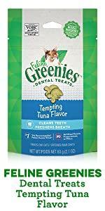 Greenies Cat, Feline, Kitty, Dental Chews, Gums, Vitamins, Natural, Ingredients, Minerals