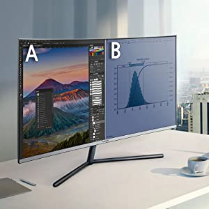 Samsung U32R590C - Monitor Curvo de 32 4K sin marcos (3840x2160, LED, UHD, 60 Hz, 4ms, 16:9, 2500:1, 1500R, HDMI, PBP) Negro: Samsung: Amazon.es: Informática
