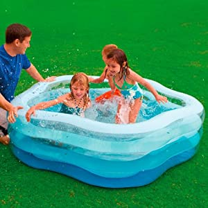 Intex 56495NP - Piscina hinchable transparente 185 x 180 x 53 cm ...