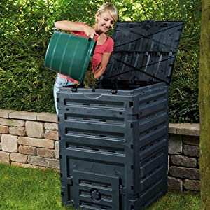 GRAF Garantia M126704 - Compostador 300 l Eco Master Negro