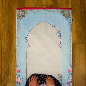Joud Praying Rug with Floral Print