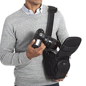 AmazonBasics Holster Camera Case for DSLR Cameras - 7 x 6 x 9 Inches, Black