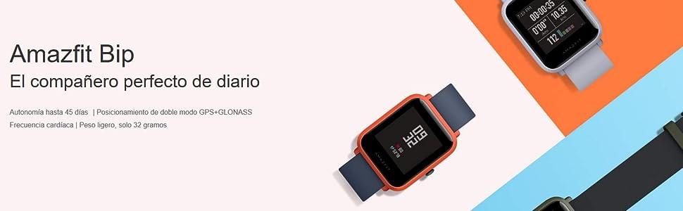 Amazfit Bip Smart Watch, Glonass GPS Monitor de frecuencia ...