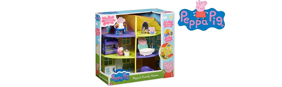 Peppa Pig 06384 Peppas Family Home Playset Juego de casa Familiar, Multicolor, 0 (Character Options: Amazon.es: Juguetes y juegos