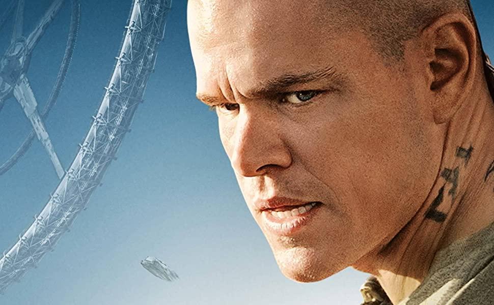 Matt Damon in Elysium, DVD, 4k, Blu-ray